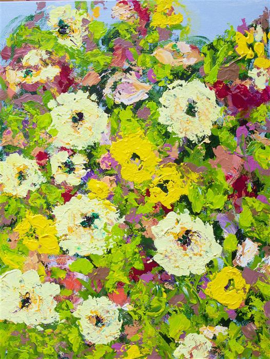 Discover Original Art by Allan P Friedlander   Keukenhof Garden acrylic painting   Art for Sale Online at UGallery