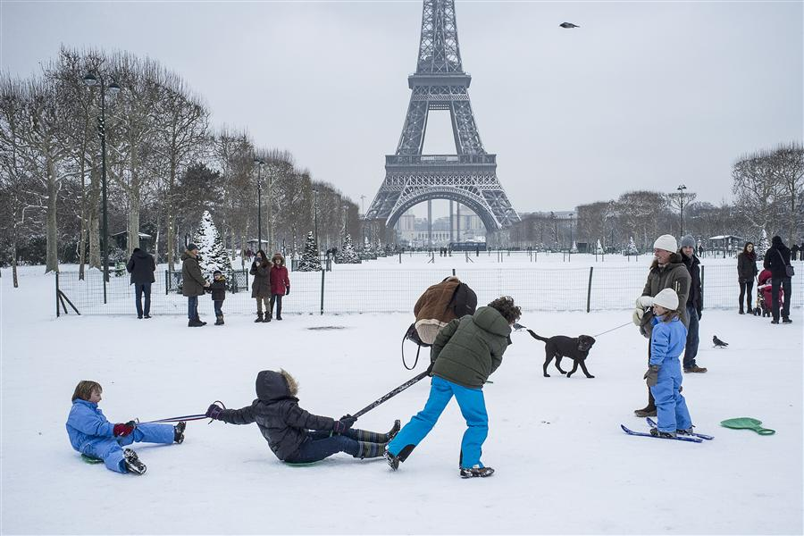 Discover Original Art by Fabio Costa | Snow in Paris photography | Art for Sale Online at UGallery