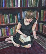 Impressionism art,People art,Representational art,pastel artwork,The Reader