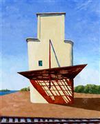 Architecture art,Representational art,Modern  art,oil painting,Grandfather