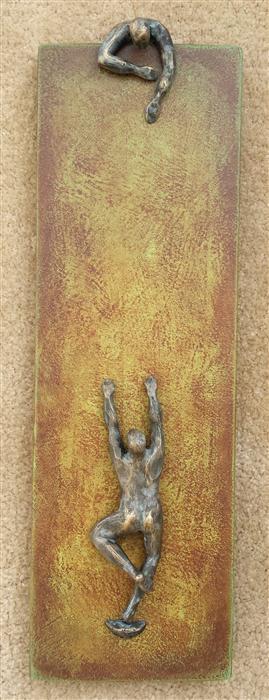 Discover Original Art by Yelitza Diaz | U-33 Green Climbers sculpture | Art for Sale Online at UGallery