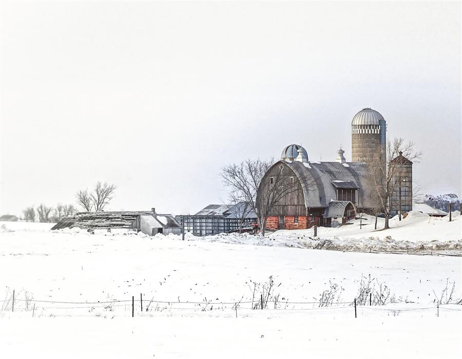 Original art for sale at UGallery.com | Pretty Country Farm by LORIANNE ENDE | $145 |  | ' h x ' w | http://www.ugallery.com/photography-pretty-country-farm