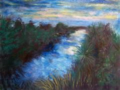 Impressionism art,Nature art,Seascape art,Representational art,pastel artwork,Twilight in Kalakoura