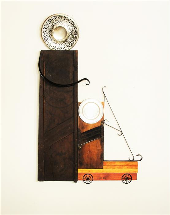 Original art for sale at UGallery.com | The Mandoline Stroll by LUCINDA SHMULSKY | $1,450 | Sculpture | 51' h x 34' w | http://www.ugallery.com/sculpture-the-mandoline-stroll