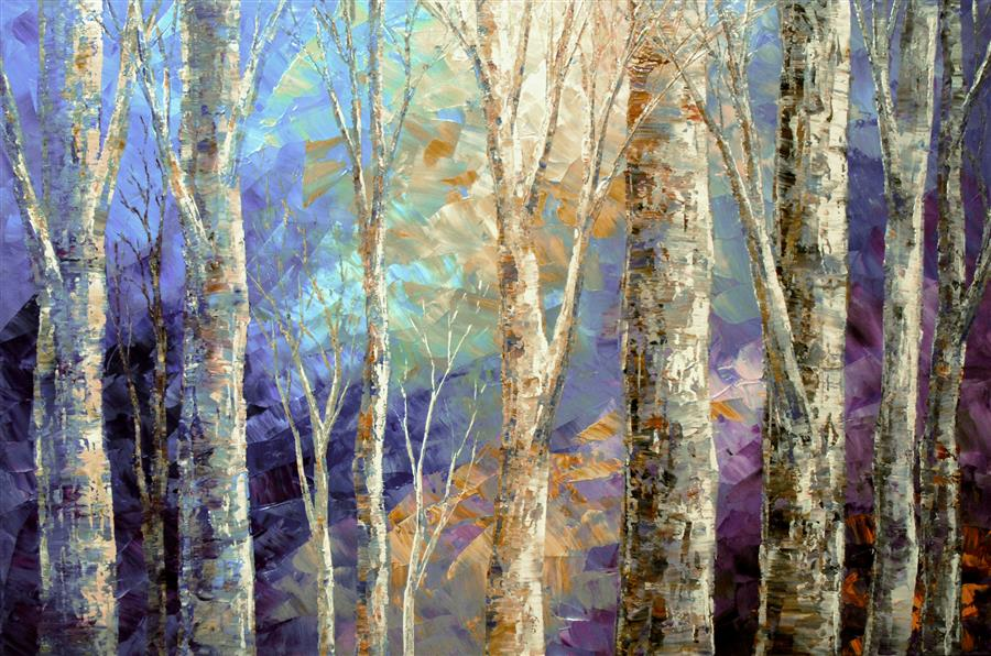 Original art for sale at UGallery.com | Woodland Breezes by TATIANA ILIINA | $1,375 | Acrylic painting | 24' h x 36' w | http://www.ugallery.com/acrylic-painting-woodland-breezes