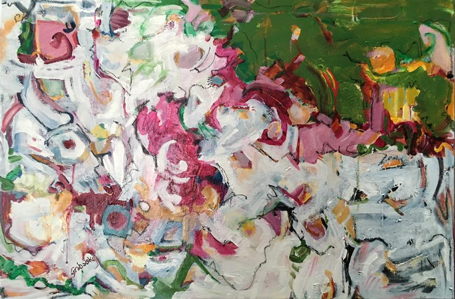 Discover Original Art by Sheila Grabarsky | Child Dancing mixed media artwork | Art for Sale Online at UGallery