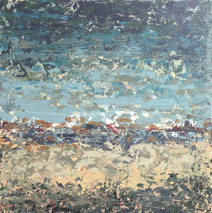 Original art for sale at UGallery.com | Sea Breeze by DAVID CARTER | $825 | Acrylic painting | 24' h x 24' w | http://www.ugallery.com/acrylic-painting-sea-breeze-43779
