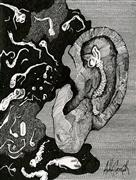 Expressionism art,Surrealism art,Street Art art,Representational art,ink artwork,Ear Infection
