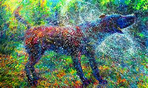 Discover Original Art by Iris Scott | Canis Major oil painting | Art for Sale Online at UGallery