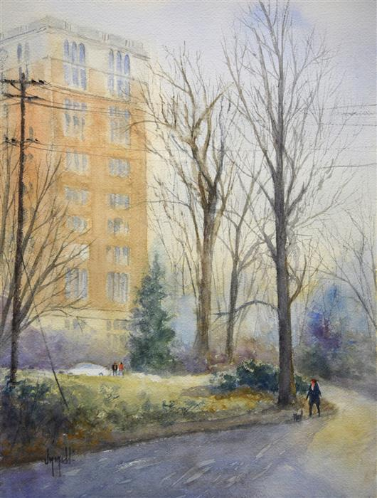 Original art for sale at UGallery.com | Willows Walk by JUDY MUDD | $625 | Watercolor painting | 16' h x 12' w | http://www.ugallery.com/watercolor-painting-willows-walk