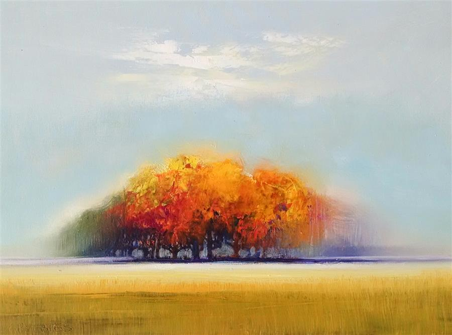 Original art for sale at UGallery.com | Peaking of Autumn by GEORGE PEEBLES | $550 | Oil painting | 18' h x 24' w | http://www.ugallery.com/oil-painting-peaking-of-autumn