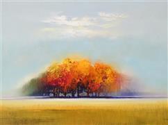 Expressionism art,Impressionism art,Landscape art,Nature art,Representational art,oil painting,Peaking of Autumn