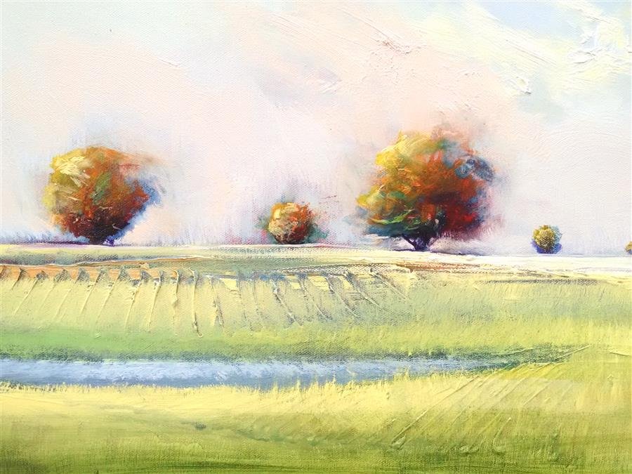 Original art for sale at UGallery.com | Old Orchard by GEORGE PEEBLES | $550 | Oil painting | 18' h x 24' w | http://www.ugallery.com/oil-painting-old-orchard