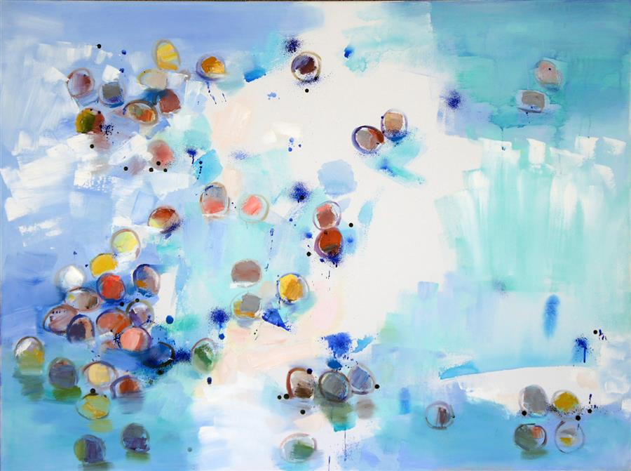 Original art for sale at UGallery.com | Low Tide 7 by CHANGSOON OH | $6,275 | Mixed media artwork | 36' h x 48' w | http://www.ugallery.com/mixed-media-artwork-low-tide-7