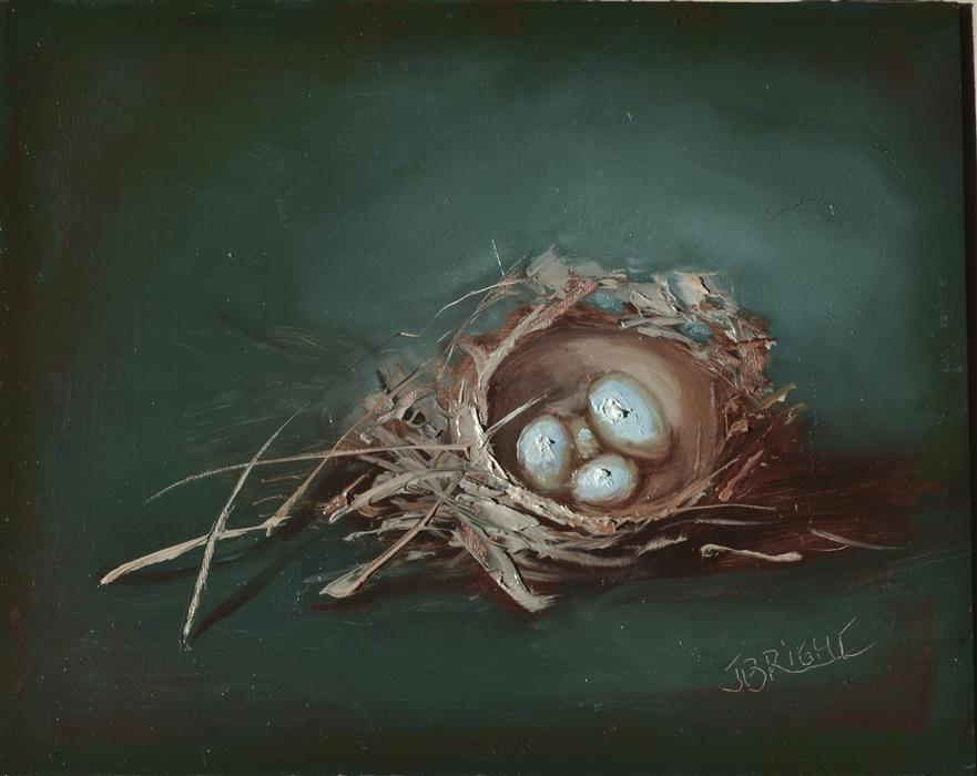 Original art for sale at UGallery.com | The Nest by JULIA BRIGHT | $800 | Oil painting | 8' h x 10' w | http://www.ugallery.com/oil-painting-the-nest