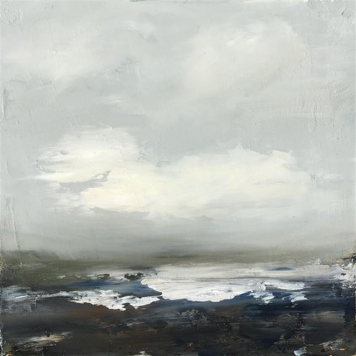 Original art for sale at UGallery.com | Coastal Study I by FAITH TAYLOR | $450 | Oil painting | 12' h x 12' w | http://www.ugallery.com/oil-painting-coastal-study-i