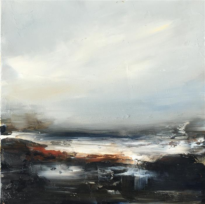 Original art for sale at UGallery.com | Coastal Study II by FAITH TAYLOR | $450 | Oil painting | 12' h x 12' w | http://www.ugallery.com/oil-painting-coastal-study-ii