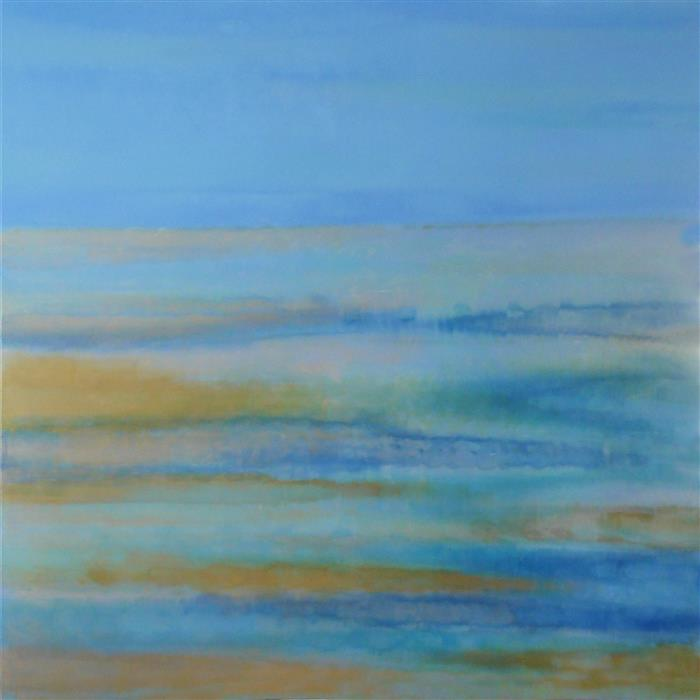 Original art for sale at UGallery.com | Blue Beyond by DENISE CHOPPIN | $5,275 | Acrylic painting | 48' h x 48' w | http://www.ugallery.com/acrylic-painting-blue-beyond