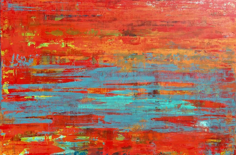 Original art for sale at UGallery.com | Tempest by ALICIA DUNN | $2,225 | Acrylic painting | 32' h x 48' w | http://www.ugallery.com/acrylic-painting-tempest-42406