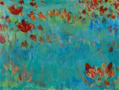 Impressionism art,Flora art,Representational art,acrylic painting,Leaf and Vine