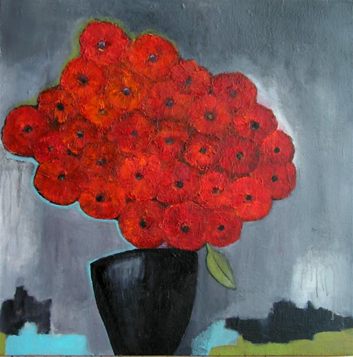 Discover Original Art by Haydee Torres | Flowers and Vase acrylic painting | Art for Sale Online at UGallery
