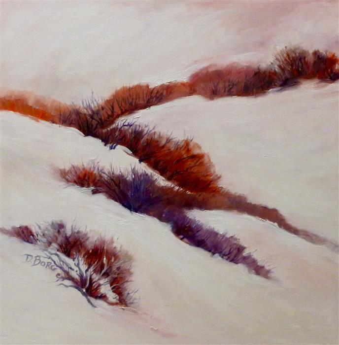 Discover Original Art by Diane  Borg | Hot Winter Day oil painting | Art for Sale Online at UGallery