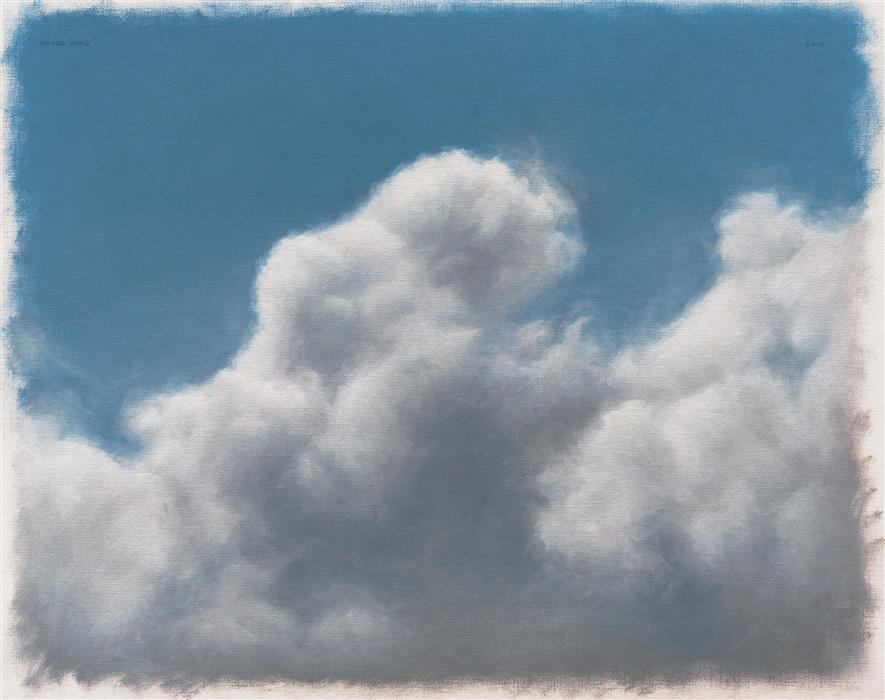 Original art for sale at UGallery.com | Clouds by DANIEL CARO | $550 | Oil painting | 11' h x 13.9' w | http://www.ugallery.com/oil-painting-clouds-44025