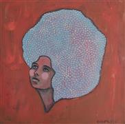 Expressionism art,People art,Fashion art,Representational art,Vintage art,acrylic painting,The Dreamer