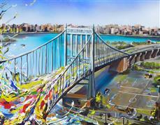Architecture art,Expressionism art,Travel art,Street Art art,Representational art,acrylic painting,Triboro Queens