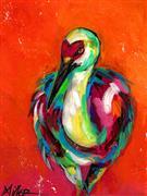 Expressionism art,Animals art,Representational art,acrylic painting,Heart Face