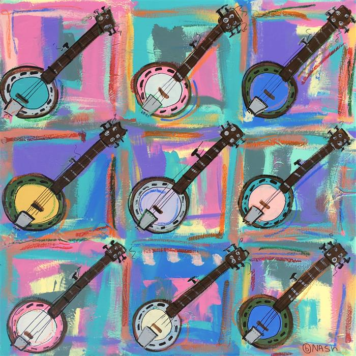 Discover Original Art by Brian Nash | Banjos acrylic painting | Art for Sale Online at UGallery