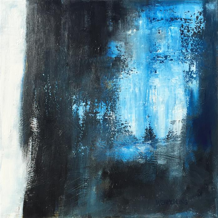 Discover Original Art by Julie Weaverling | Road to Dublin, Night Lifting acrylic painting | Art for Sale Online at UGallery