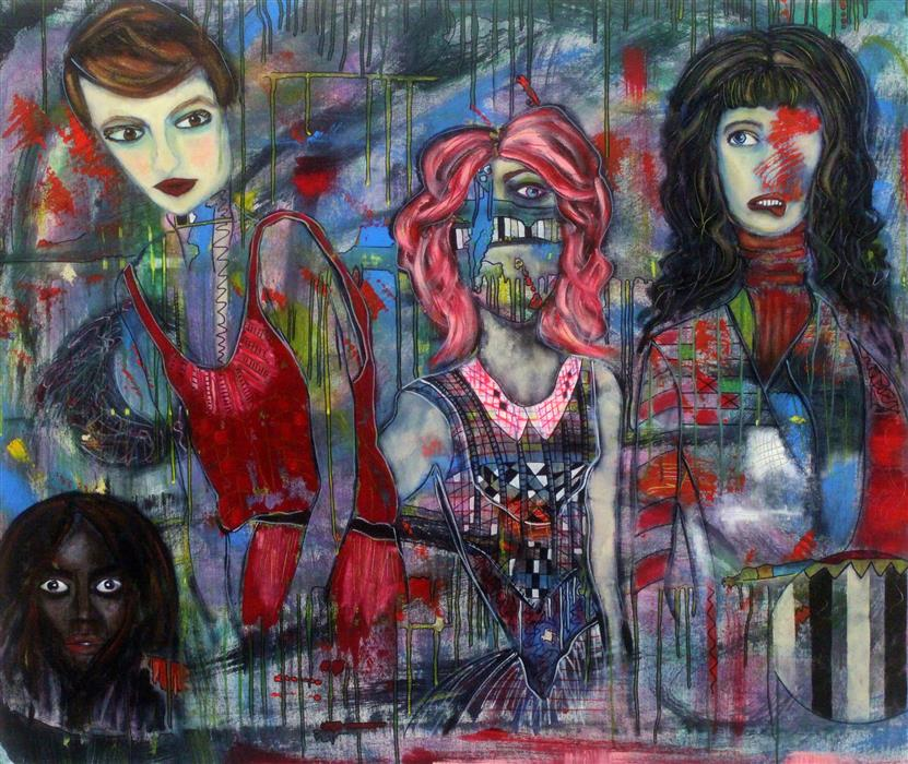 Original art for sale at UGallery.com | The Complexity of Women by PENELOPE PRZEKOP | $3,200 | Acrylic painting | 36' h x 43' w | http://www.ugallery.com/acrylic-painting-the-complexity-of-women