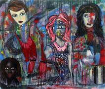 Expressionism art,People art,Street Art art,Representational art,Primitive art,acrylic painting,The Complexity of Women