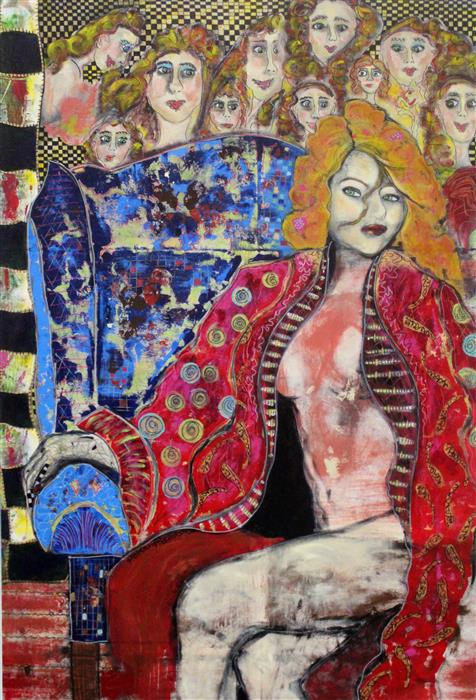 Original art for sale at UGallery.com | Her Majesty by PENELOPE PRZEKOP | $4,300 | Acrylic painting | 50' h x 34' w | http://www.ugallery.com/acrylic-painting-her-majesty-44075