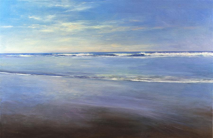 Original art for sale at UGallery.com | Quiet Ocean by DON BISHOP | $1,925 | Oil painting | 24' h x 36' w | http://www.ugallery.com/oil-painting-quiet-ocean