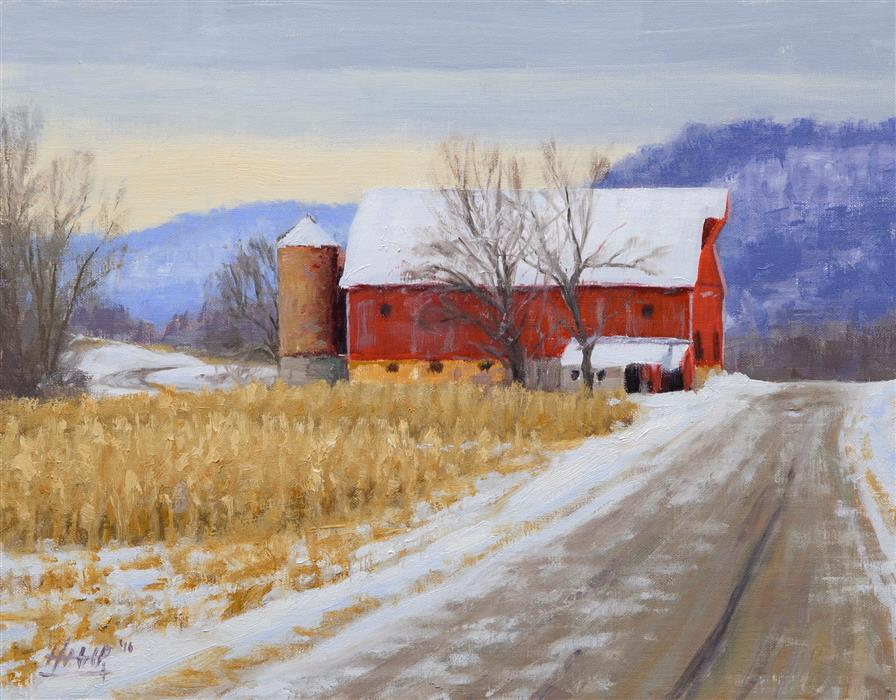 Original art for sale at UGallery.com | Mulcahey's Barn by NATHAN HAGER | $775 | Oil painting | 11' h x 14' w | http://www.ugallery.com/oil-painting-mulcahey-s-barn