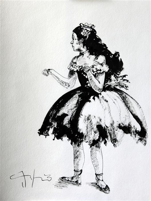 Discover Original Art by Carlos Gamez de Francisco | Dancer watercolor painting | Art for Sale Online at UGallery