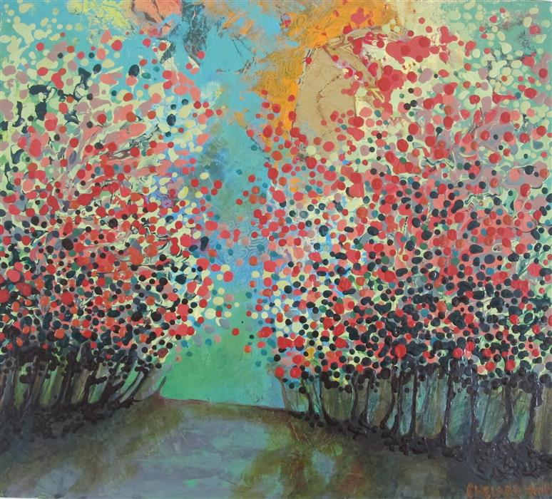 Discover Original Art by Diana Elena Chelaru   Break of Dawn mixed media artwork   Art for Sale Online at UGallery