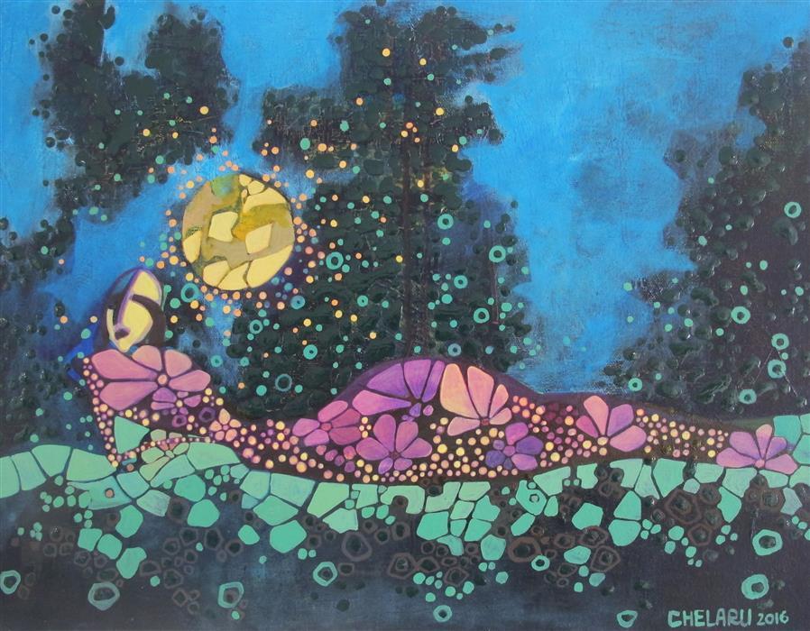 Original art for sale at UGallery.com | Broken into Pieces by DIANA ELENA CHELARU | $775 | Acrylic painting | 14' h x 18' w | http://www.ugallery.com/acrylic-painting-broken-into-pieces