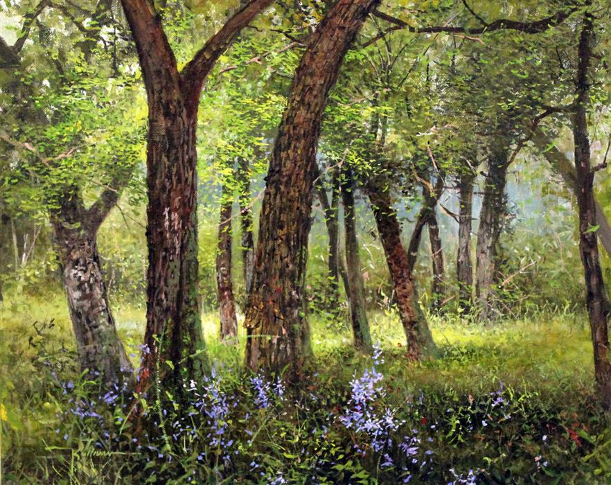 Original art for sale at UGallery.com | Welcome Shade by KENT SULLIVAN | $1,075 | Oil painting | 16' h x 20' w | http://www.ugallery.com/oil-painting-welcome-shade