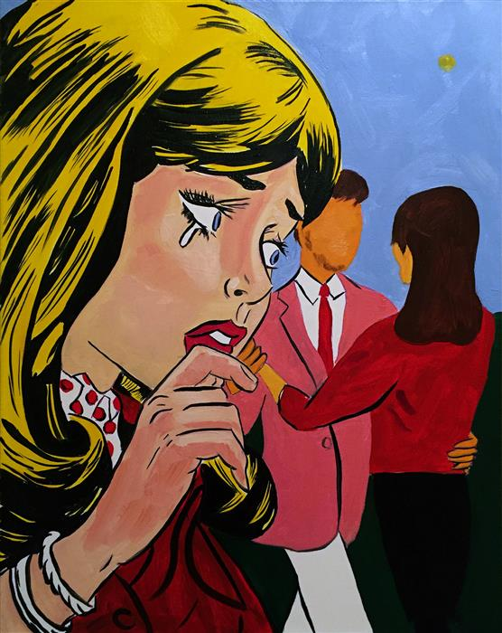 Discover Original Art by Allison Zuckerman | Say It Ain't So oil painting | Art for Sale Online at UGallery