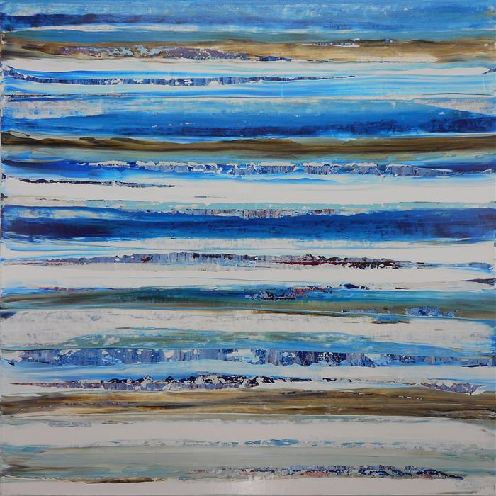 Discover Original Art by Lisa Carney | Strata Bleu acrylic painting | Art for Sale Online at UGallery