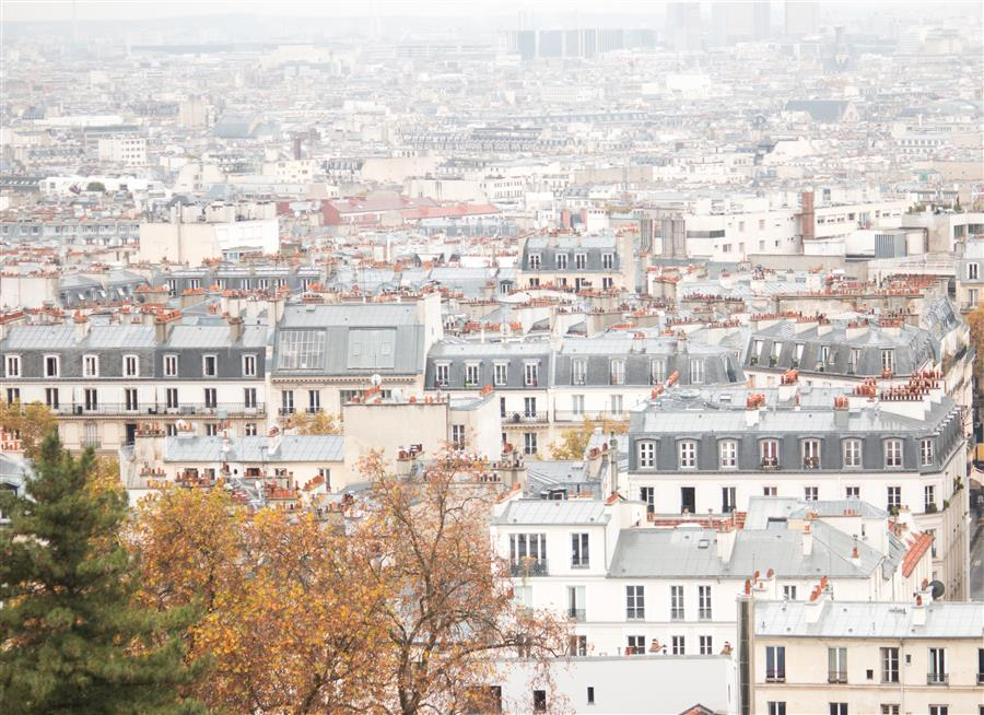 Original art for sale at UGallery.com | Rain Soaked Parisian Rooftops by REBECCA PLOTNICK | $245 |  | ' h x ' w | http://www.ugallery.com/photography-rain-soaked-parisian-rooftops