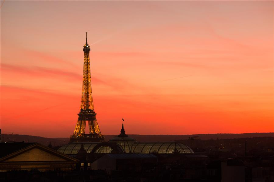 Original art for sale at UGallery.com | Parisian Red Sunset by REBECCA PLOTNICK | $245 |  | ' h x ' w | http://www.ugallery.com/photography-parisian-red-sunset