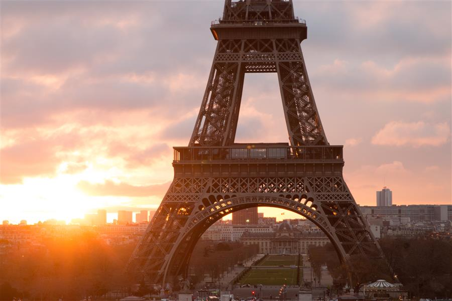 Original art for sale at UGallery.com | Paris Sunrise at Trocadero by REBECCA PLOTNICK | $245 |  | ' h x ' w | http://www.ugallery.com/photography-paris-sunrise-at-trocadero