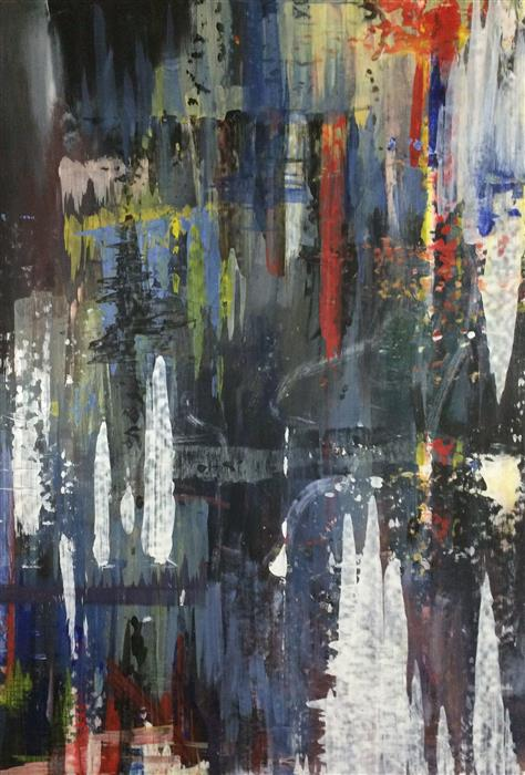 Original art for sale at UGallery.com | Richter's Almost Dead I by SHANE KENNEDY | $1,675 | Acrylic painting | 48' h x 32.5' w | http://www.ugallery.com/acrylic-painting-richter-s-almost-dead-i