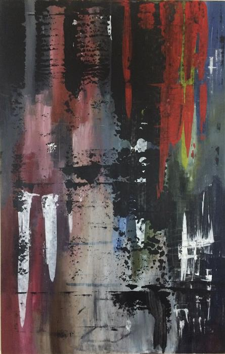 Original art for sale at UGallery.com | Richter's Almost Dead II by SHANE KENNEDY | $1,675 | Acrylic painting | 48' h x 31.5' w | http://www.ugallery.com/acrylic-painting-richter-s-almost-dead-ii
