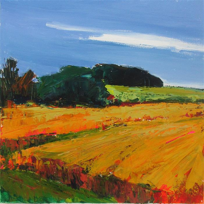 Discover Original Art by Janet Dyer | Bright Cornfield acrylic painting | Art for Sale Online at UGallery