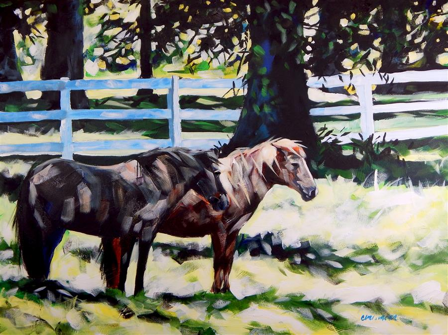 Original art for sale at UGallery.com | July Horses by CHRIS WAGNER | $1,800 | Acrylic painting | 30' h x 40' w | http://www.ugallery.com/acrylic-painting-july-horses